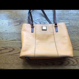 Dooney & Bourke Pebble Leather Orange Handbag